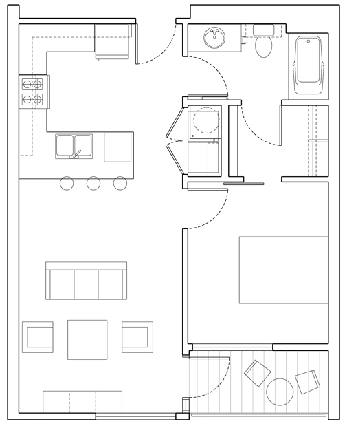 Level 1 bedroom Floor Plan