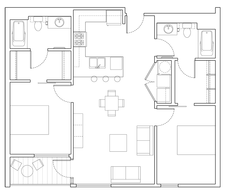 Level 2 Bedroom-A Floor Plan