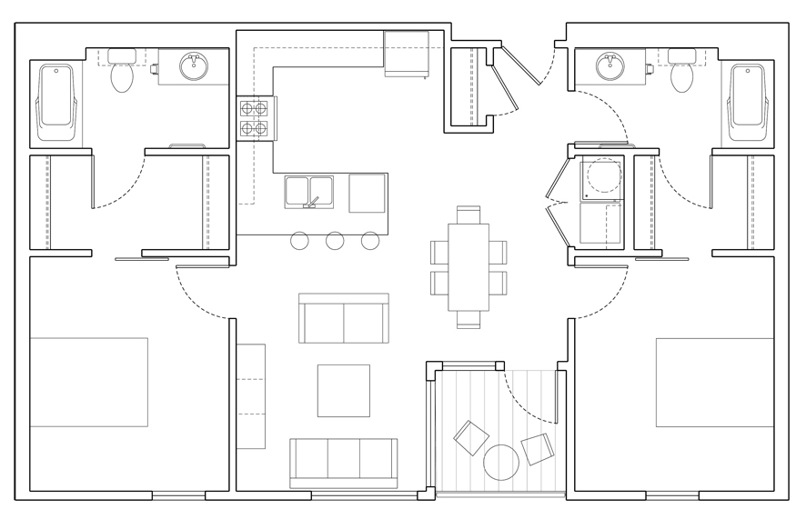 Level 2 Bedroom-C Floor Plan