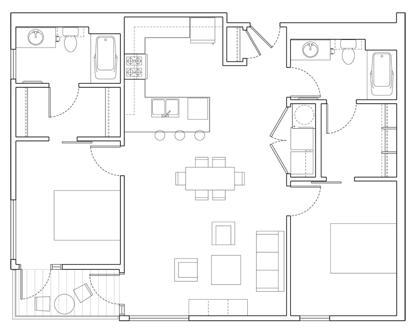 Level 2 Bedroom-D Floor Plan