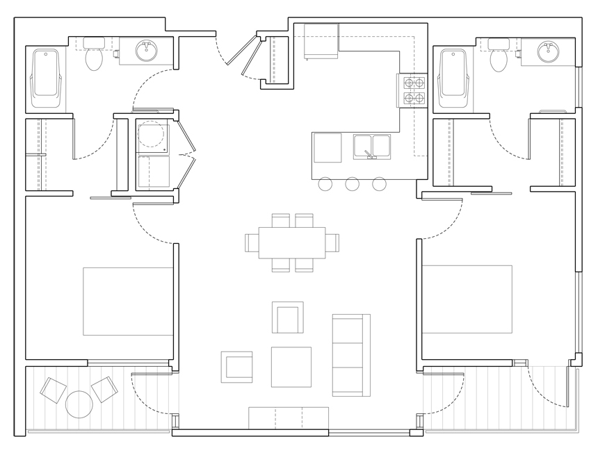 Level 2 Bedroom D2 Floor Plan